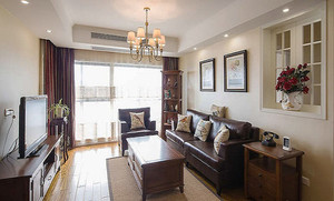 现代美式风格147平米大户型室内装修效果图