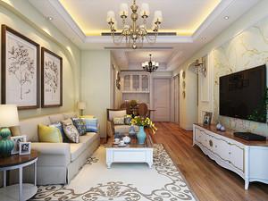 美式田园风格温馨舒适90平米室内装修效果图