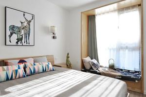 北欧风格宜家温馨卧室飘窗设计装修效果图
