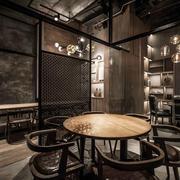 中式风格精致餐厅隔断设计装修效果图