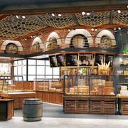 美式风格精致面包店设计装修效果图