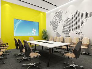 现代风格小型会议室设计装修效果图