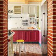 混搭风格时尚精美厨房设计装修效果图