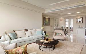 简欧风格柔美温馨客厅沙发设计装修效果图