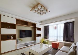 简约风格白色主题两室两厅室内装修效果图