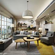 简约风格温馨客厅落地窗设计装修效果图