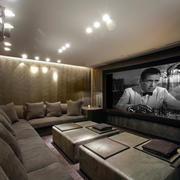 现代风格时尚休闲家庭影院设计装修效果图