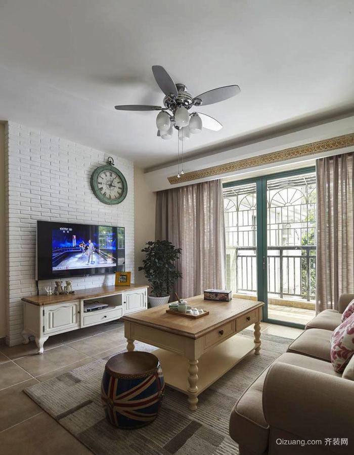 欧式风格精致客厅电视背景墙装修效果图