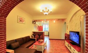 美式田园风格雅致休闲两室两厅室内装修效果图