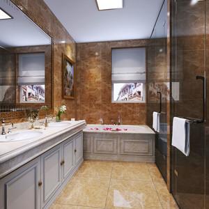 欧式风格精美别墅卫生间设计装修效果图