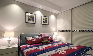现代风格简单舒适两室两厅样板房装修效果图