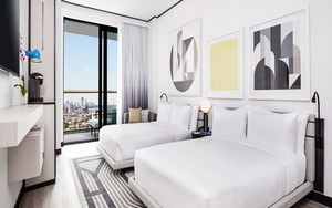 现代简约风格宾馆客房装修效果图