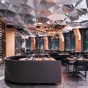 现代风格时尚餐厅设计装修效果图