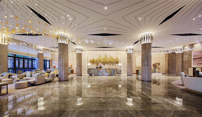 欧式风格奢华精美五星级酒店大堂装修效果图