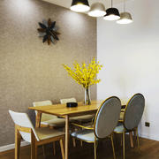 北欧风格原木色餐厅设计装修效果图