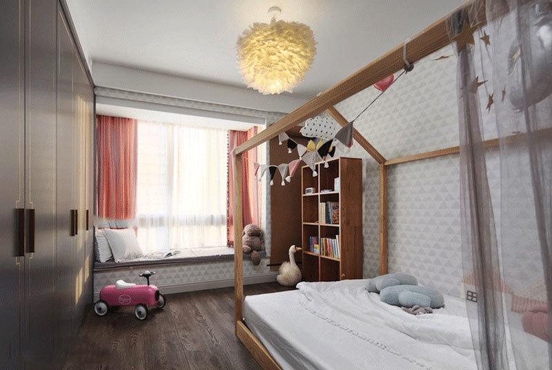 北欧风格自然舒适儿童房设计装修效果图