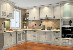 现代简约风格白色厨房设计装修效果图