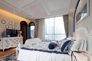 地中海风格优雅精致别墅室内设计装修效果图