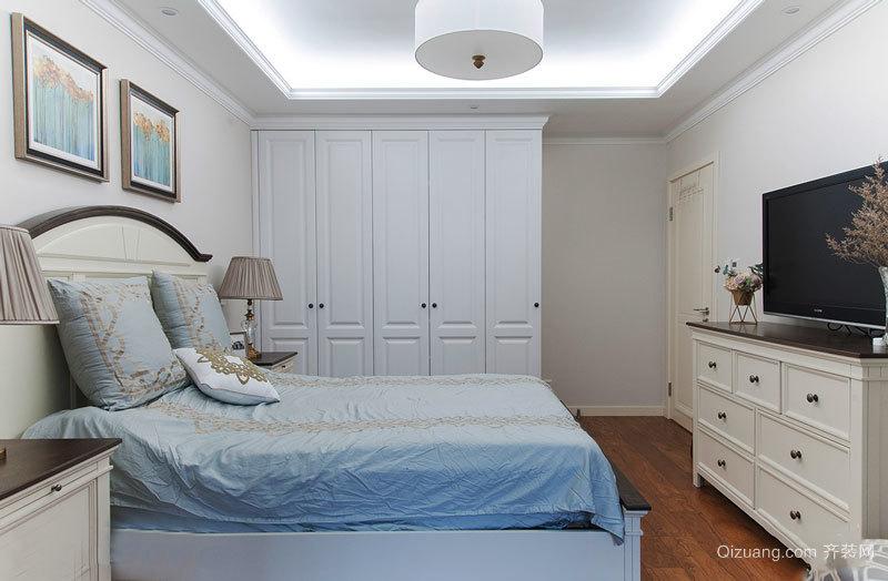简欧风格白色温馨卧室设计装修效果图鉴赏
