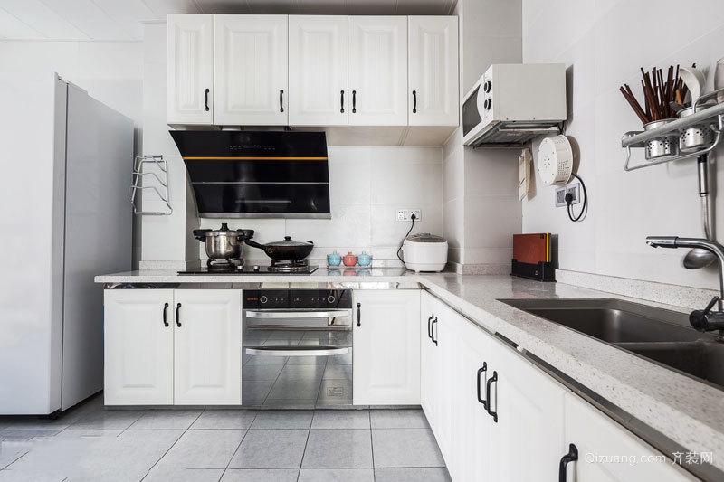 8平米简约风格白色厨房设计装修效果图