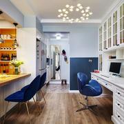 开放式精美欧式风格书房设计装修效果图