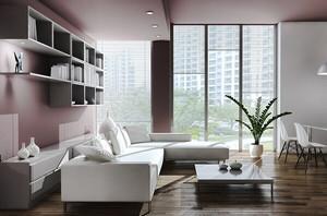 现代简约风格轻松舒适客厅沙发装修效果图