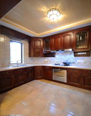 美式风格复古精致整体厨房设计装修图