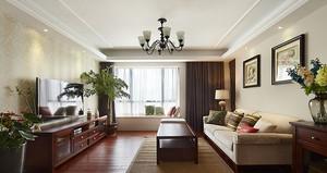 美式风格复古精致三室两厅两卫设计装修图