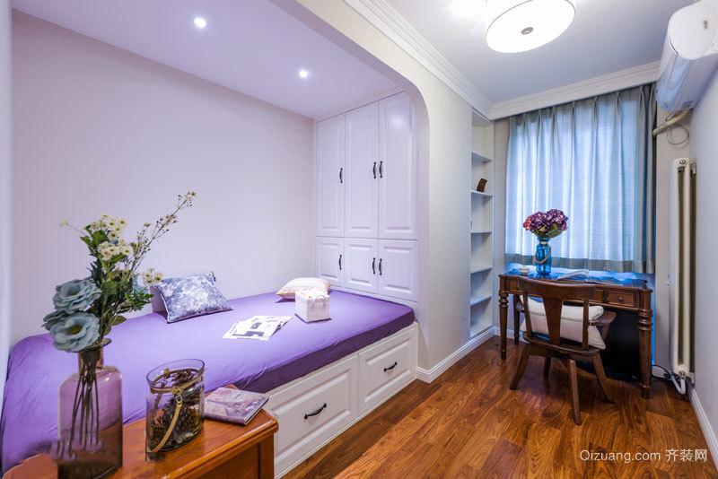 美式风格精致榻榻米卧室设计装修效果图