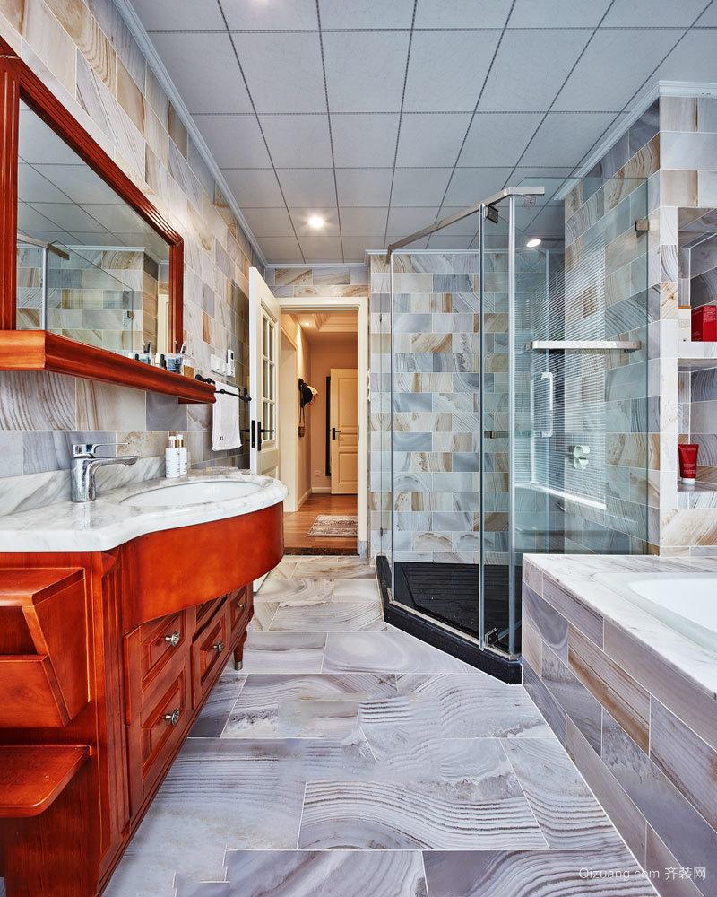 欧式风格精致别墅卫生间设计装修效果图