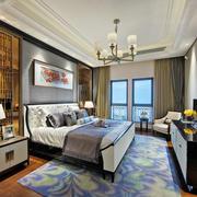 新中式风格古典奢华卧室设计装修效果图