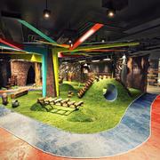 现代风格休闲儿童乐园设计装修效果图