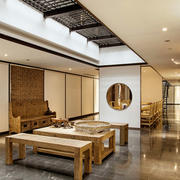 中式风格80平米餐厅设计装修效果图