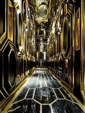 欧式风格奢华精致酒店走廊装修效果图