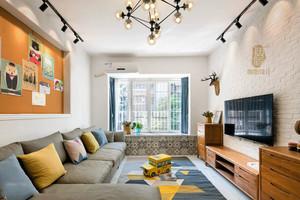 北欧风格时尚靓丽客厅设计装修效果图
