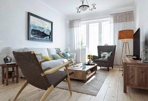 北欧田园风温馨自然90平米室内装修效果图
