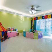 清新绿色儿童房设计装修效果图