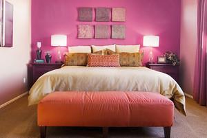 简欧风格温馨舒适卧室设计装修效果图大全