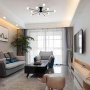 简约温馨小户型客厅设计装修效果图