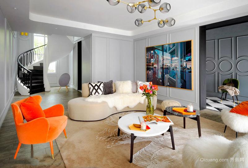 现代简约风格时尚客厅隔断设计装修效果图