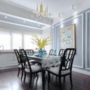 美式风格清新古典餐厅设计装修图