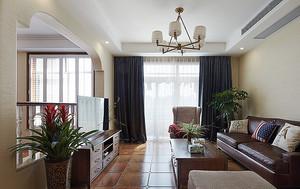 现代美式风格精致复式楼室内设计装修效果图