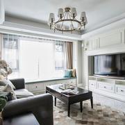 欧式风格白色精美客厅飘窗设计装修效果图