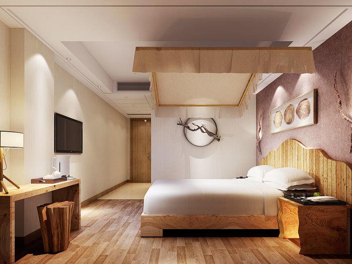 现代风格时尚宾馆标准间设计装修图