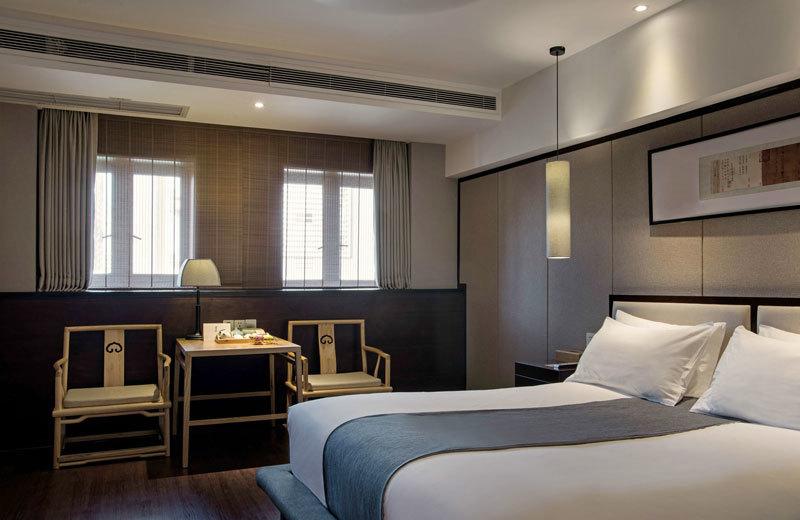 中式风格古典酒店客房设计装修图