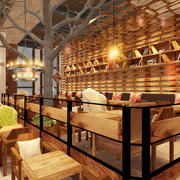 现代风格精美书吧咖啡厅装修效果图