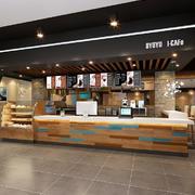 现代风格时尚咖啡厅吧台装修效果图