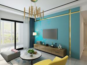 北欧风格清新63平米一居室装修效果图