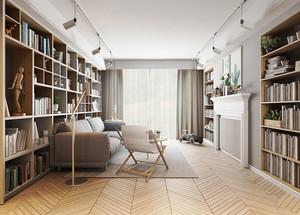 北欧风格质朴自然风两室两厅室内装修效果图