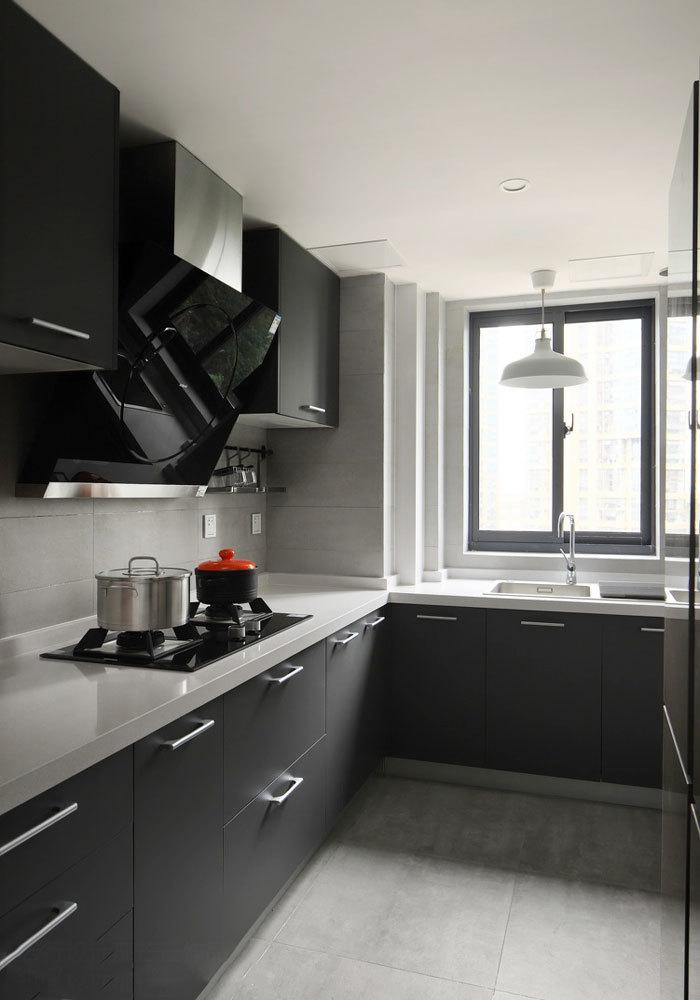 现代风格精致L型厨房设计装修效果图